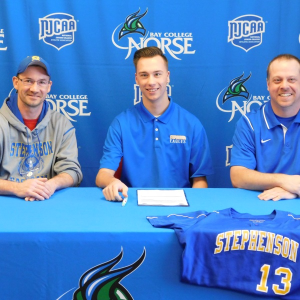 Bay College's new baseball program has signed its first player.