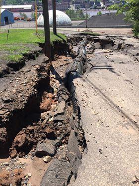 Houghton County flood..