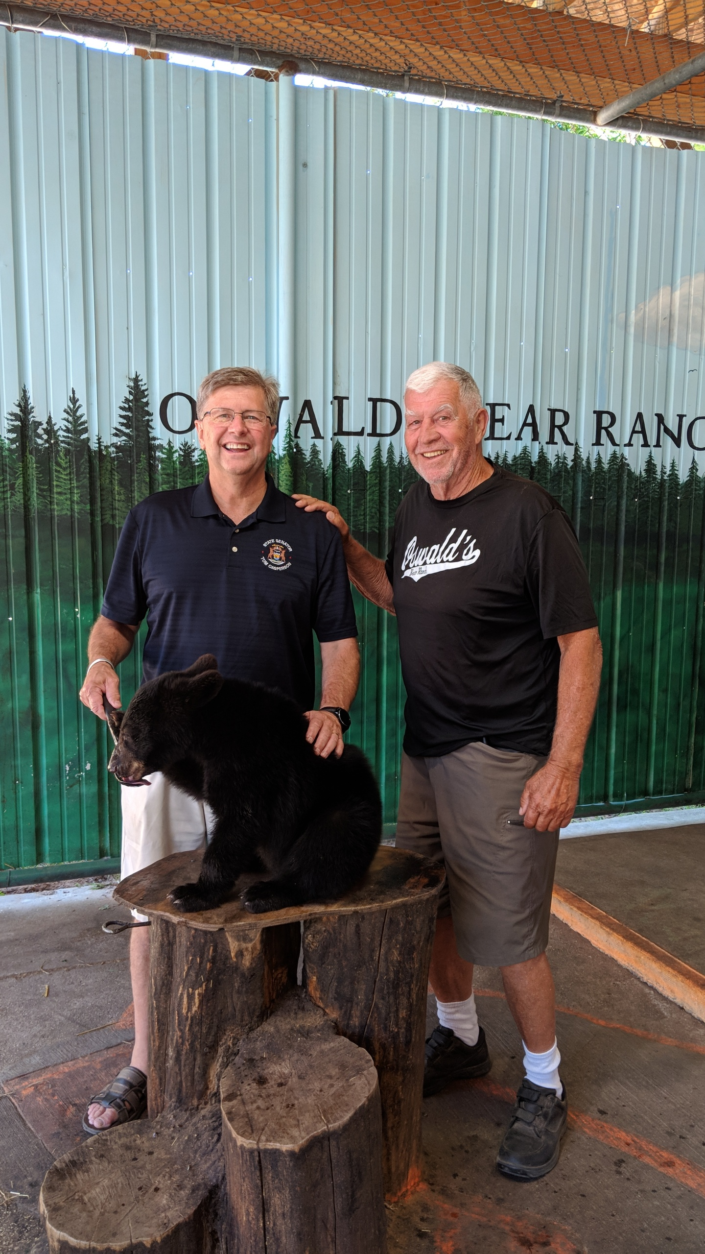 Sen. Casperson at Oswald's Bear Ranch