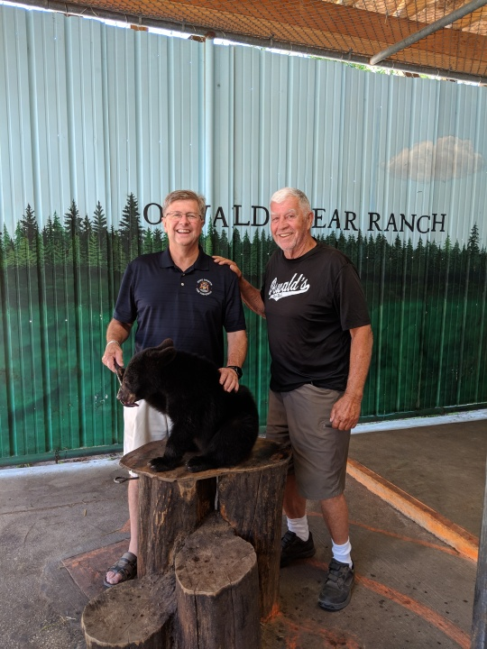 Sen. Casperson at Oswald's Bear Ranch