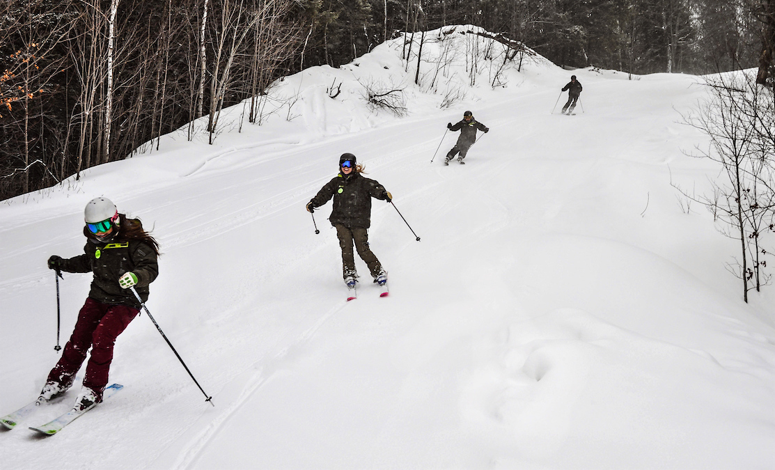 Marquette Mountain skiers