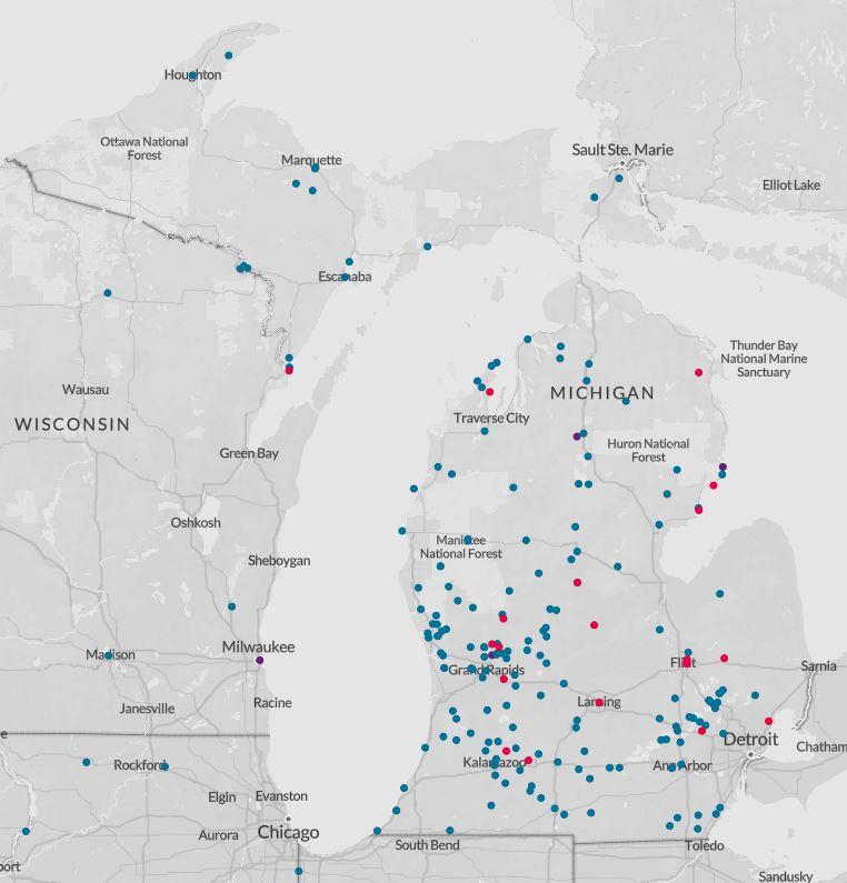 PFAS contamination map