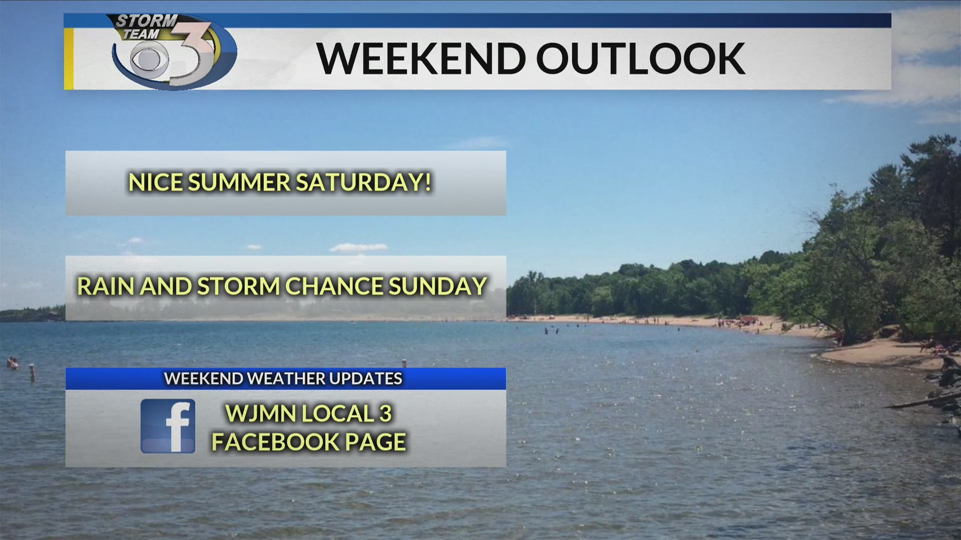 LOCAL 3 WEEKEND WEATHER FORECAST 6/22/2019 & 6/23/2019