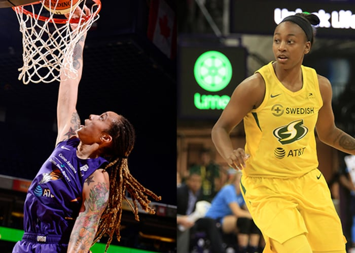 WNBA TWITCH TAKEOVER: JEWELL LOYD vs. BRITTNEY GRINER