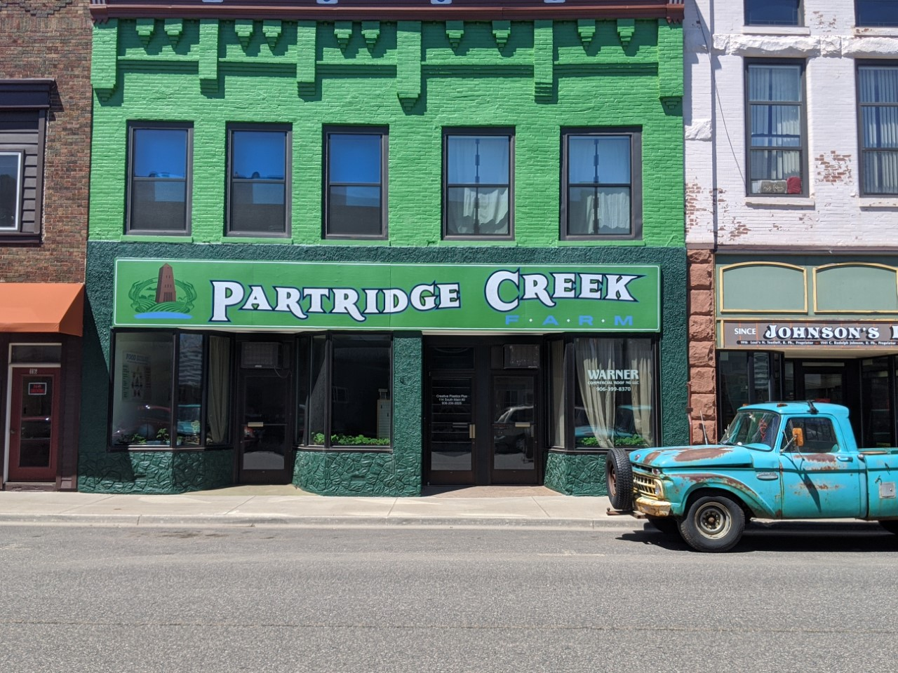 Partridge Creek Farm office in Ishpeming on Main St.