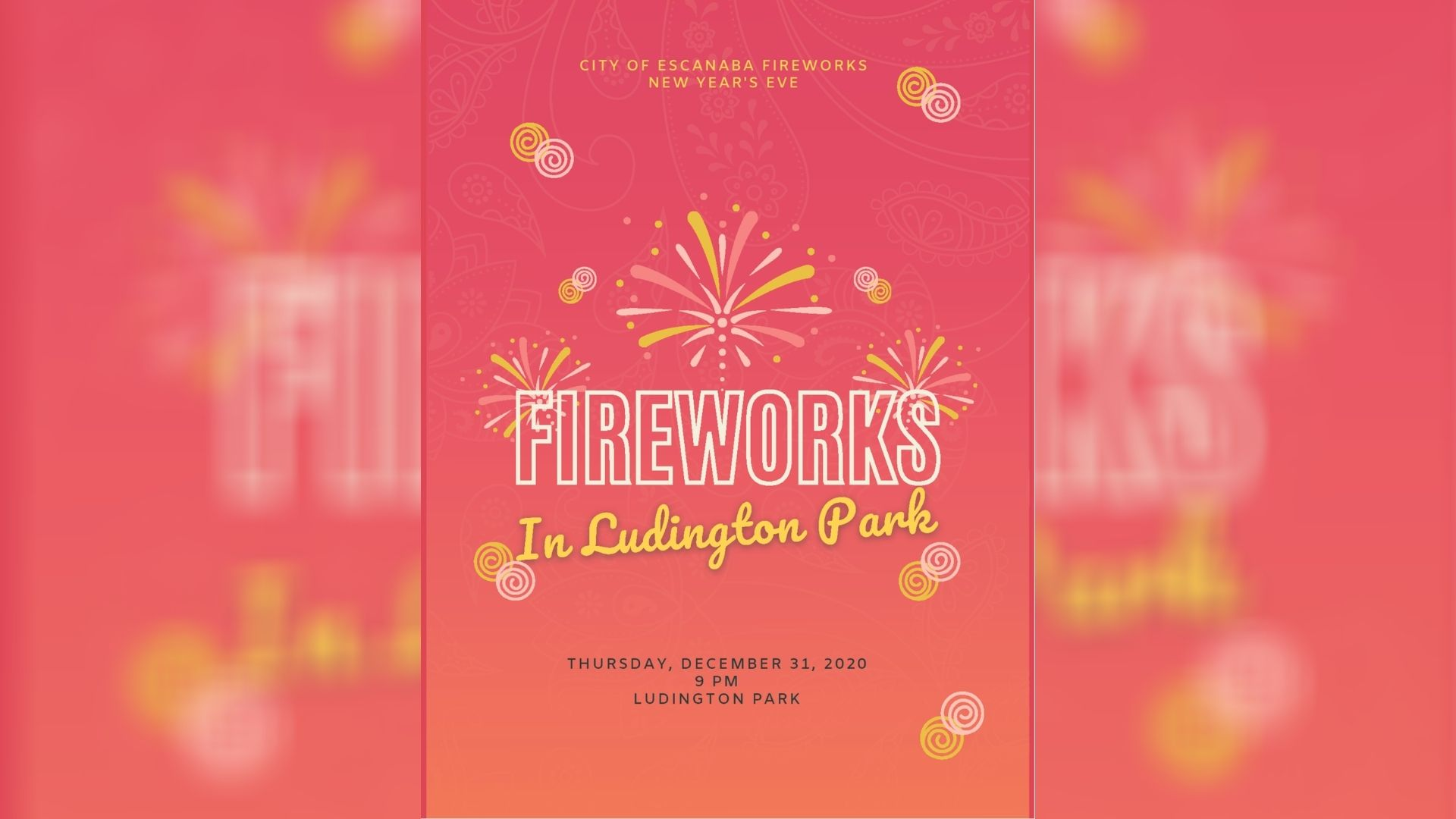 Fireworks in Ludington Park to ring in 2021 this New Year's Eve | WJMN - UPMatters.com