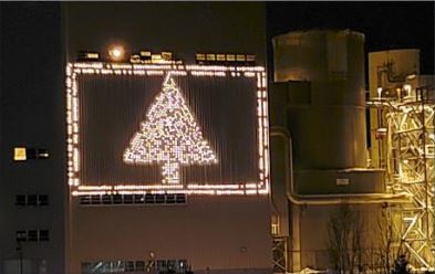 Shiras Steam Power Plant Christmas tree to shine once more
